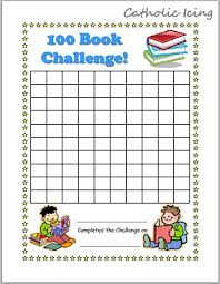 100 Book Challenge Chart Printable Reading Charts For Kids 20 Book Challenge 40