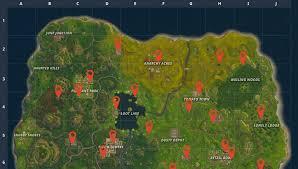 How To Get Vending Machine Locations Unique Vending Machine Locations Map For Fortnite Battle Royale DIY