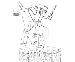 Minecraft Horse Coloring Pages Jerusalem House