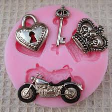 Heart Motorcycle Key Imperial Crown Shape Cake Mold-buy at a ...
