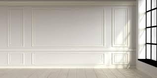 modern classic white empty interior