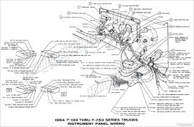 1964 ford truck wiring diagrams fordification info the 61 66 1964 f100 thru f750 series trucks instrument panel wiring