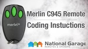 coding instructions merlin c945 remote