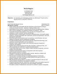 Best Ideas Of Montessori Teacher Resume Cover Letter Resume