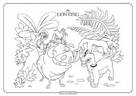 Main characters in the lion king movie. Printable Disney The Lion King Coloring Page