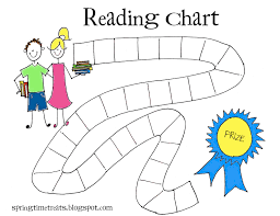 Reading Sticker Chart Spring Time Treats Reading Chart Free Printable Reading