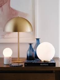 cute circle table lamp modern about convertable mondo small round table lamp in white brass portraits