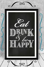 eat drink and be happy printable kitchen wall art etsy printables  on eat drink be happy wall art with eat drink and be happy printable kitchen wall art etsy