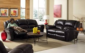 black leather sofa set design for small living room with white floors use of to beautify