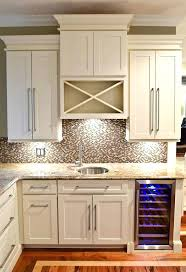 under cabinet wine rack wet bar built of white shaker cabinets with in cooler glass above fridge77 above