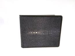 autre marque black leather wallet wallets small accessories exotic leather black ref 81483