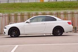 black bmw convertible 3 series. low mileage bmw 3 series convertible e93 rare stunning white black bmw 9