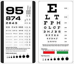 Snellen And Rosenbaum Pocket Eye Chart Pack Of 2 Cards