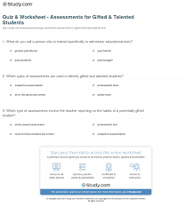 print essing gifted talented students worksheet