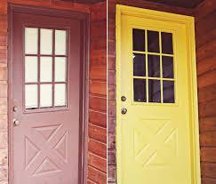 Yellow Painting a Door