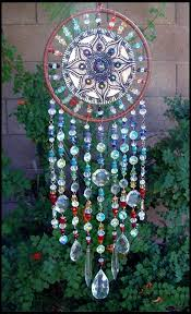 Dream Catcher With Crystals Clay Crystal Gemstone and Leather Dream Catcher that I made for 1
