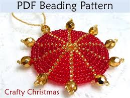 Beaded Christmas Ornaments Patterns Interesting Free Beaded Christmas Ornament Patterns Crafty Pearl Filled