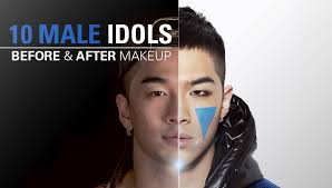 10 male idols before and after makeup