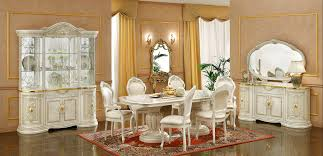 white italian furniture. White Italian Dining Room Sets With Red Carpet And Expensive Curio Cabinet Furniture W