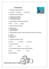 english worksheet finding nemo film activity english finding nemo