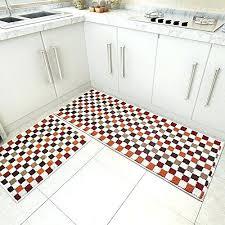 orange kitchen rug sets home fashion ethnic style plaid splice kitchen rug runner washable non slip