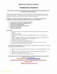 Assembly Line Worker Resume Resume Warehouse Worker Example Najmlaemah
