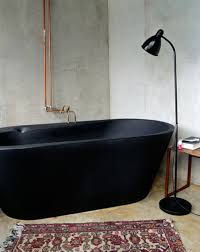 Bathroom: Black Tub And White Decor - Bathtub Designs