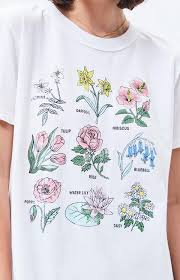 Flower Chart T Shirt Ps La Flower Chart T Shirt From Pacsun On 21 Buttons