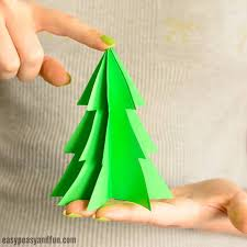 Christmas Tree Stencil Printable 3d Paper Christmas Tree Template Easy Peasy And Fun