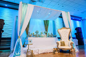 golden glamorous prince baby shower canopy
