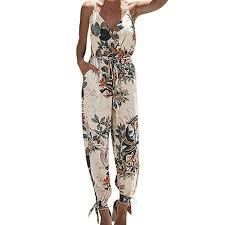 Looka33 <b>Women Jumpsuit</b> Plus Size <b>Elegant</b> Sexy Casual Printing ...