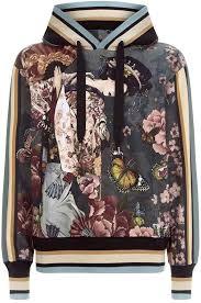 Dolce & Gabbana Japanese Floral Hoodie | Блузки