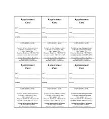 Appointment Card Template 40 Appointment Cards Templates Appointment Reminders