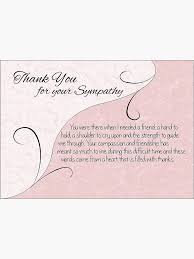 Thank You Sympathy Cards Thank You Sympathy Card Pastel Pink With Vintage Scrolls Greeting Card