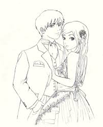Cute Couple Sketches To Draw In Color Drawn K O P E L Drawing
