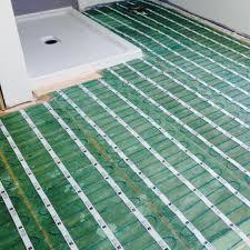 how do i install radiant floor heating under tile