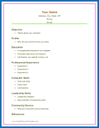 High School Graduate Resume Template Adorable Curriculum Vitae Format For High School Students Pdf Resume