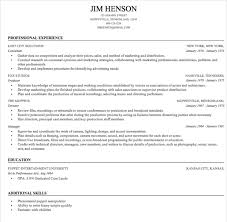 Excellent Professional Resume Sample Format for All Different Cv Templates   fores   hol es