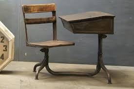 wooden school desk and chair. Vintage Wooden School Desk Seating Company Small Child  S Wood Antique . And Chair