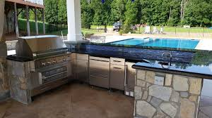 Outdoor Kitchen Design Fireplaces Outdoor Kitchens Revolutionary Gardens