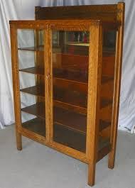 antique mission oak china cabinet original finish sold