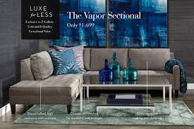z gallery furniture. perfect furniture luxe for less  the vapor sectional sofa in z gallery furniture