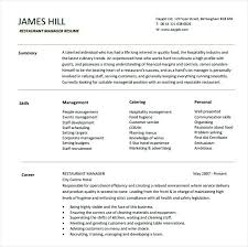 Restaurant Manager Resume Template Staff 121 Maker For Youtube ...