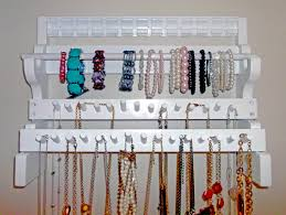 Jewelry Organizer Diy Attractive Necklace Holder Diy For Better Jewelry Organizer