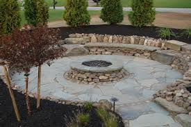 outdoor stone fire pit. Natural Stone Outdoor Fire Pit Traditional-patio S