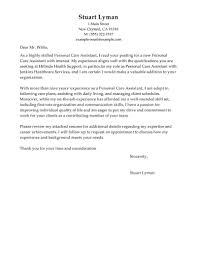 Cover Letter For Care Assistant No Experience Filename Heegan Times