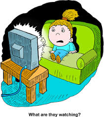 boy watching tv clipart. boy watching tv clipart