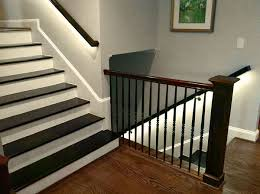 stairway led lighting. LED Handrail Staircase Lighting Using Strip Lights Stairway Led