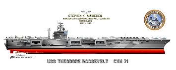 Aircraft Carrier Paintings Prints Matted Framed For Gifts