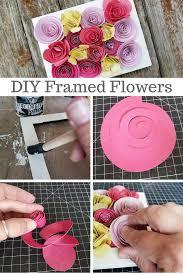 Paper Flower Frame Erin Reed Makes Upcycled Framed Rolled Paper Flower Decor